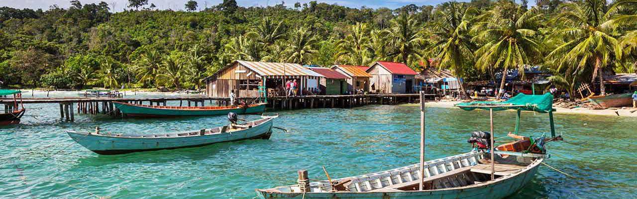 Zona costera de Kep en Camboya