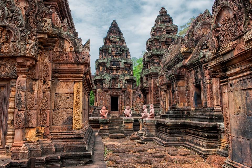 Imagen del templo de Banteay Srei en Angkor