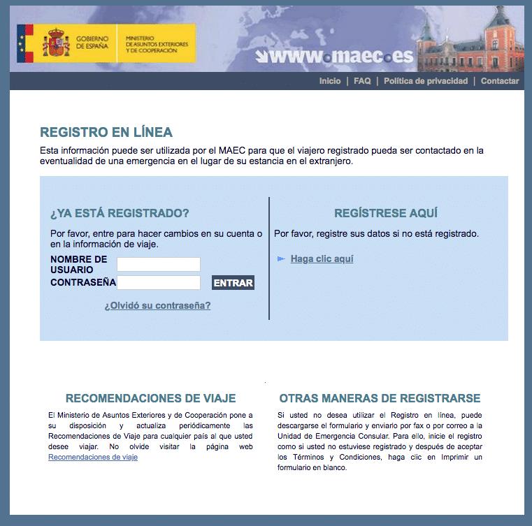 Registro web ministerio asuntos exteriores españa- Muy útil antes de viajar a Camboya