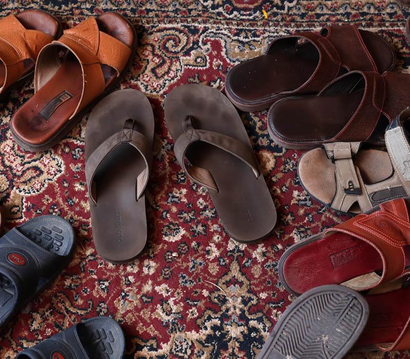 En Camboya los zapatos se usan solo en la calle