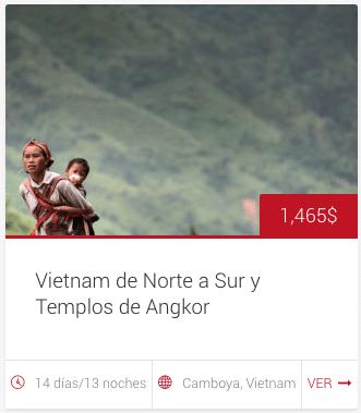 """Tour """"Vietnam de Norte a Sur y Templos de Angkor"""""""