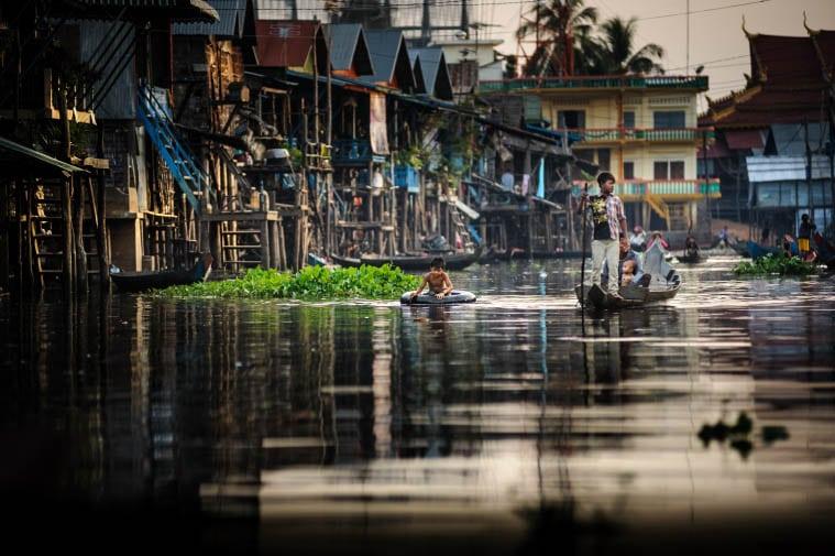 Imagen de la ladea flotante de Kampong Pluk, en Camboya