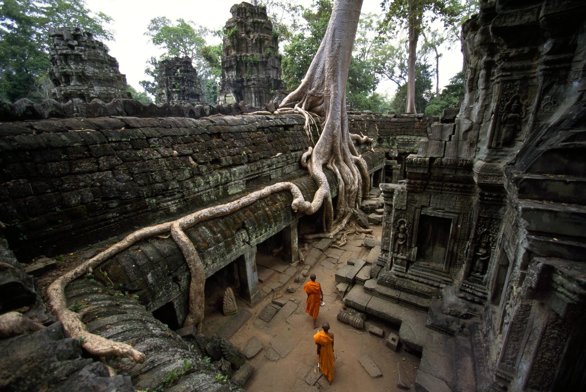 Visita a Ta Prhom, vista superior.