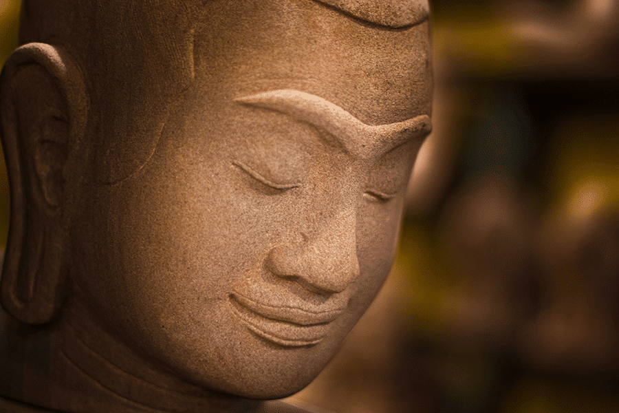Busto del rey Jayavarman-VII, Camboya