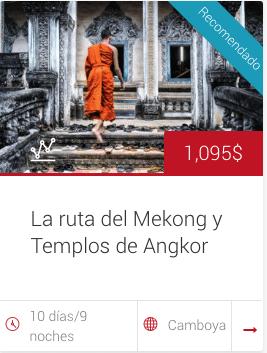 Tour La ruta del Mekong y Angkor