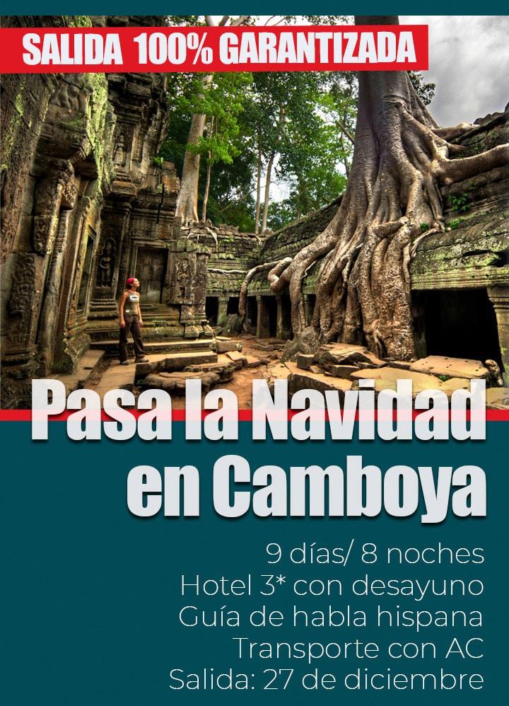 Viaje organizado a Camboya en Navidad 2019