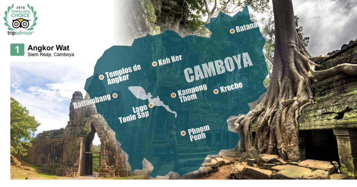 Templos de Angkor reconocidos como mejor lugar de interés del mundo en 2018 por Trip Advisor