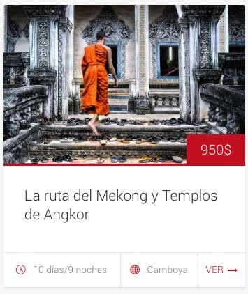 Tour camboya Mekong - viaje en grupo - 10 dias