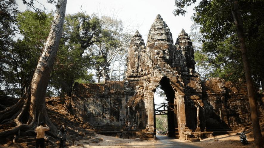 Foto de la puerta de la Victoria en Los Templos de Angkor